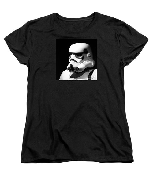 Women's T-Shirt (Standard Cut) featuring the photograph Stormtrooper by Chris Thomas