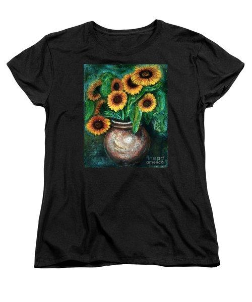 Sunflowers Women's T-Shirt (Standard Cut) by Jasna Dragun