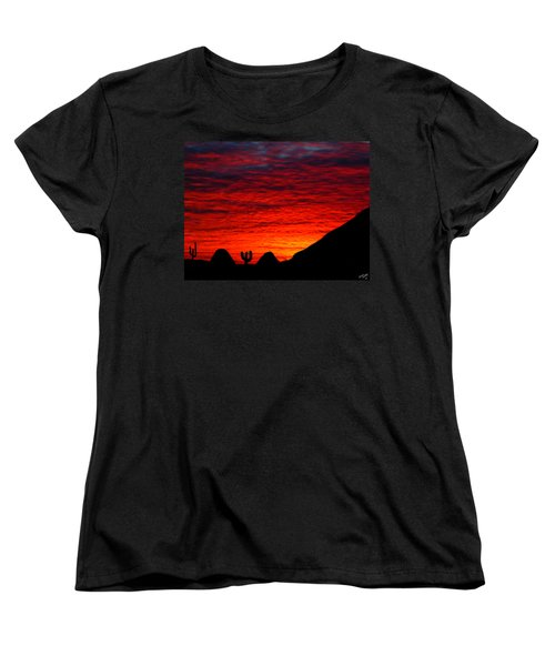 Sunset In The Desert Women's T-Shirt (Standard Cut) by Bruce Nutting