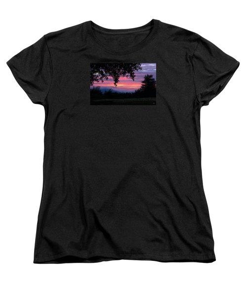 Sunset Women's T-Shirt (Standard Cut) by Kate Black