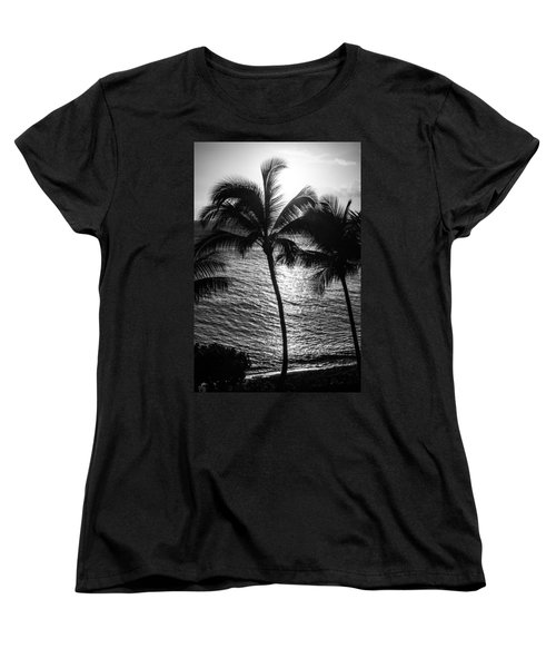 Sunset Silhouette Women's T-Shirt (Standard Cut) by Colleen Coccia