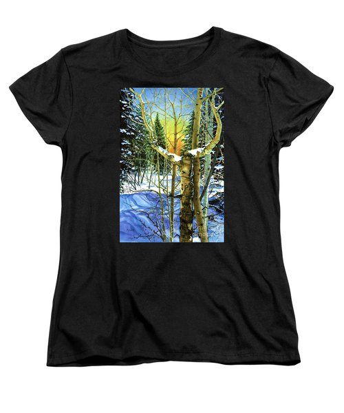 Women's T-Shirt (Standard Cut) featuring the painting Supplication-psalm 28 Verse 2 by Barbara Jewell