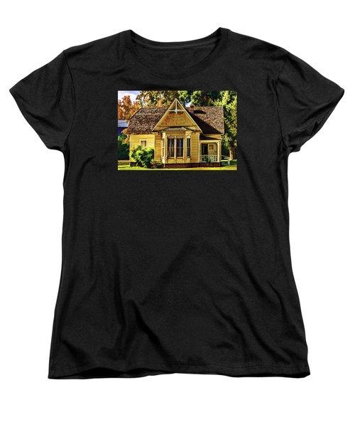 Women's T-Shirt (Standard Cut) featuring the painting Sweet Home by Muhie Kanawati