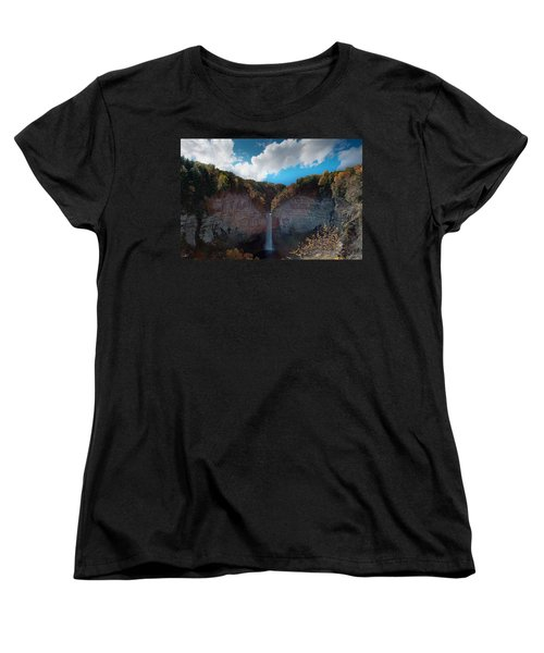 Women's T-Shirt (Standard Cut) featuring the photograph Taughannock Falls Ithaca New York by Paul Ge