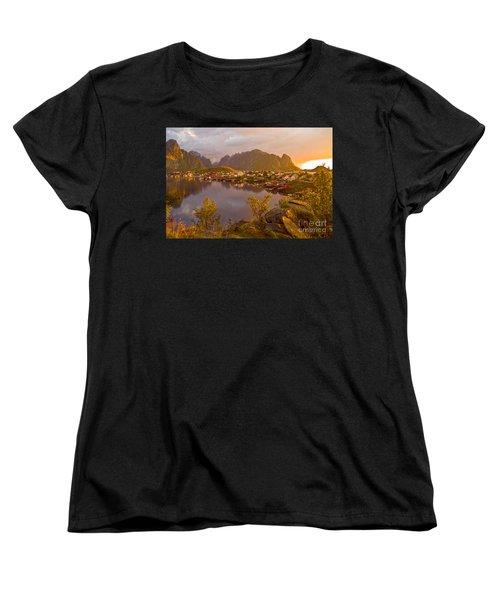 The Day Begins In Reine Women's T-Shirt (Standard Cut) by Heiko Koehrer-Wagner