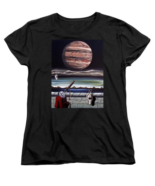 Women's T-Shirt (Standard Cut) featuring the painting The Eternal Staring Contest by Ryan Demaree