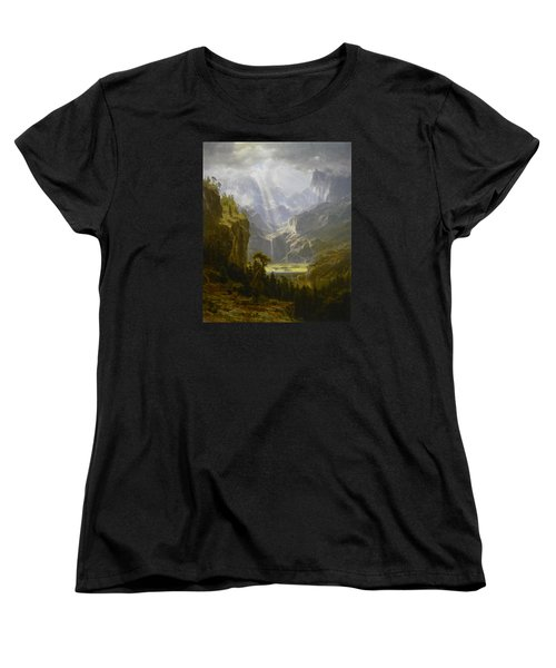 The Rocky Mountains Lander's Peak Women's T-Shirt (Standard Cut) by Celestial Images
