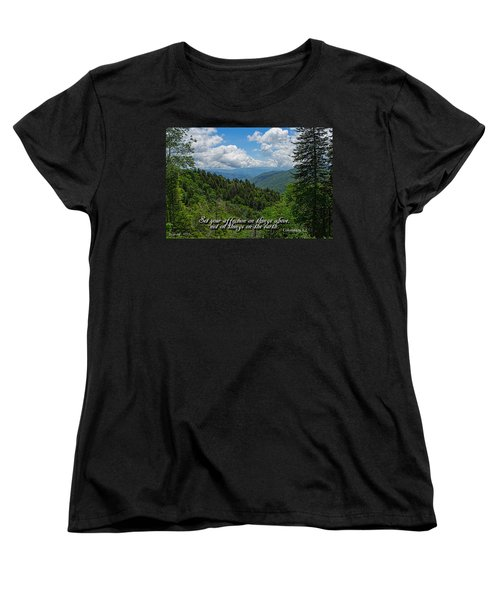 Women's T-Shirt (Standard Cut) featuring the photograph Things Above by Larry Bishop