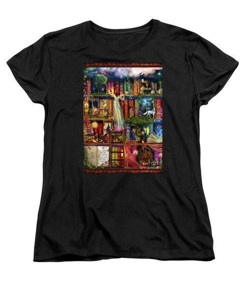 Treasure Hunt Book Shelf Women's T-Shirt (Standard Cut) by Aimee Stewart