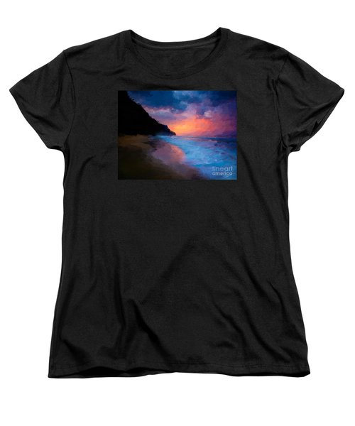 Women's T-Shirt (Standard Cut) featuring the digital art Tropical Paradise by Anthony Fishburne