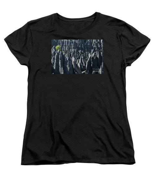 Women's T-Shirt (Standard Cut) featuring the photograph Tsingy De Bemaraha Madagascar by Rudi Prott