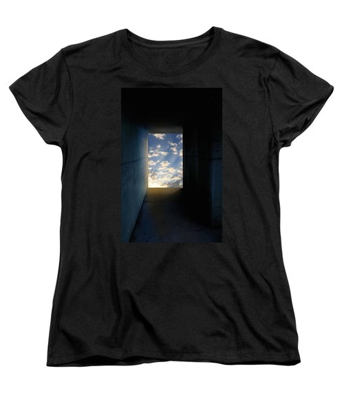 Tunnel With Light Women's T-Shirt (Standard Cut) by Melinda Fawver