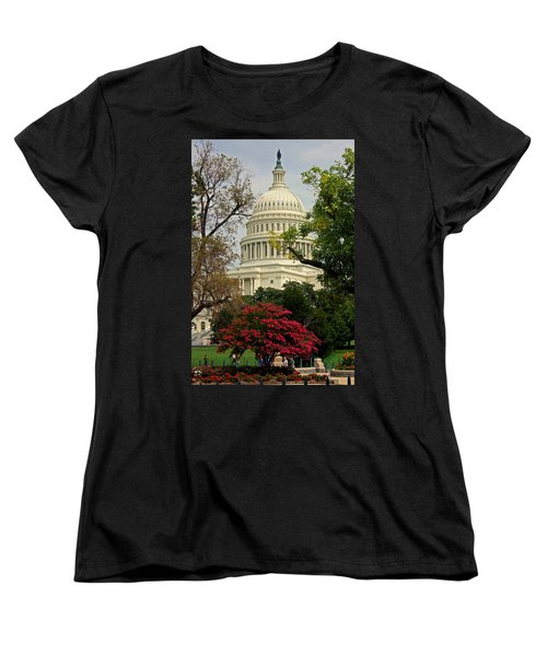 United States Capitol Women's T-Shirt (Standard Cut) by Suzanne Stout