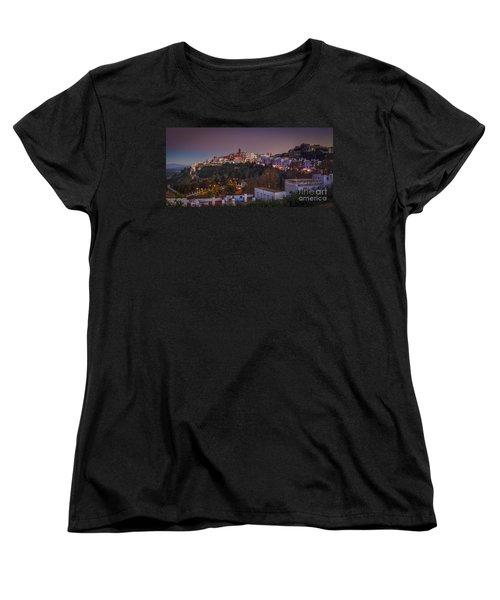 Vejer De La Frontera Panorama Cadiz Spain Women's T-Shirt (Standard Cut) by Pablo Avanzini