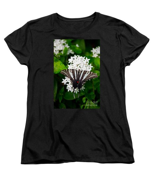 Zebra Swallowtail Women's T-Shirt (Standard Cut) by Angela DeFrias
