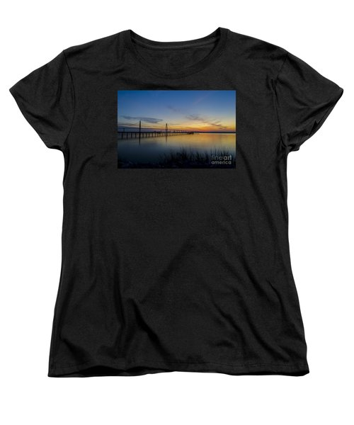 Women's T-Shirt (Standard Cut) featuring the photograph Peacefull Hues Of Orange And Yellow  by Dale Powell
