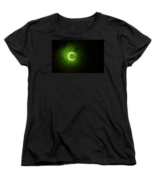 15 January 2010 Solar Eclipse Maldives Women's T-Shirt (Standard Cut) by Jenny Rainbow