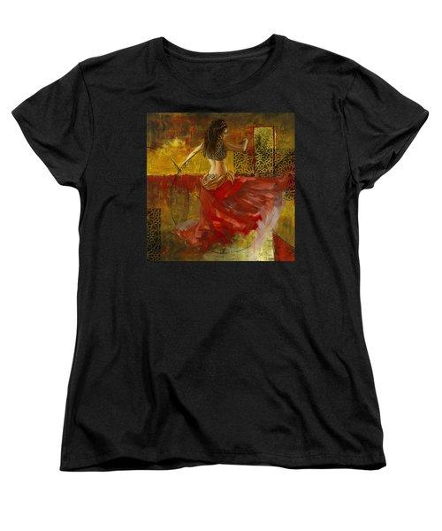 Abstract Belly Dancer 6 Women's T-Shirt (Standard Cut)