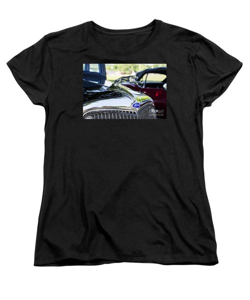 Women's T-Shirt (Standard Cut) featuring the photograph 1933 Ford Hood Ornament by Paul Mashburn