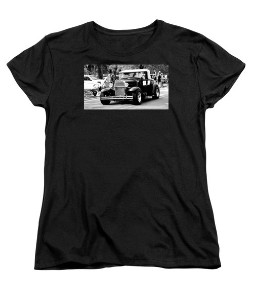 Women's T-Shirt (Standard Cut) featuring the photograph 1934 Classic Car In Black And White by Ester  Rogers