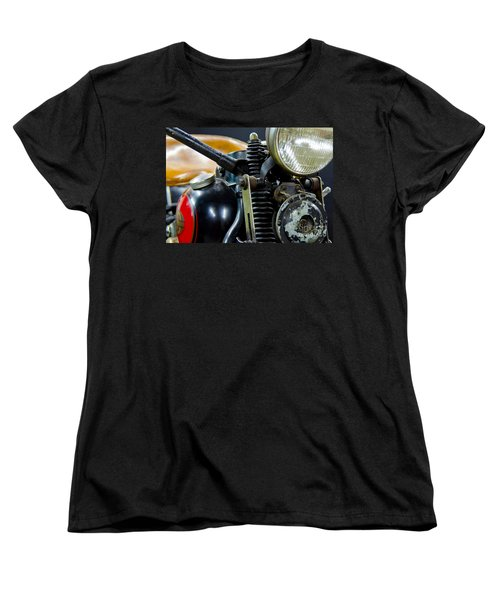 1936 El Knucklehead Harley Davidson Motorcycle Women's T-Shirt (Standard Cut) by Wilma  Birdwell