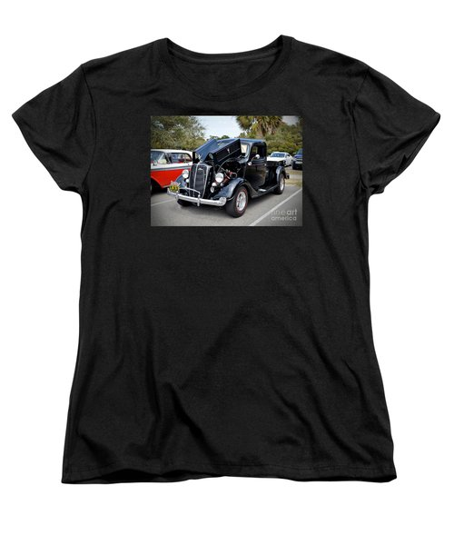 Women's T-Shirt (Standard Cut) featuring the photograph 1937 Ford Pick Up by Kathy Baccari