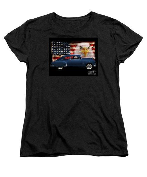 Women's T-Shirt (Standard Cut) featuring the photograph 1949 Pontiac Tribute Roger by Peter Piatt