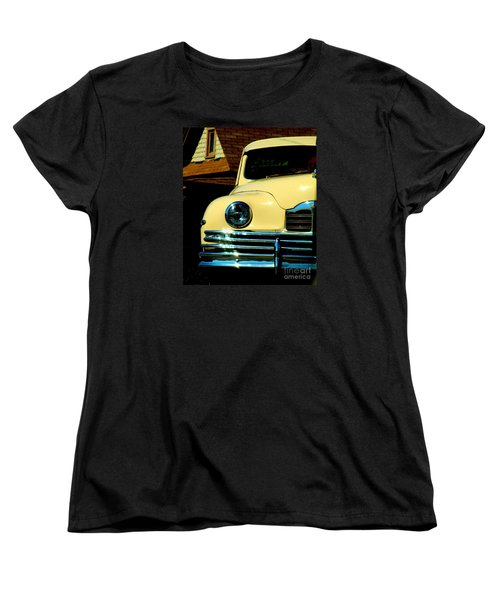 Women's T-Shirt (Standard Cut) featuring the photograph 1950 Yellow Packard by Janette Boyd