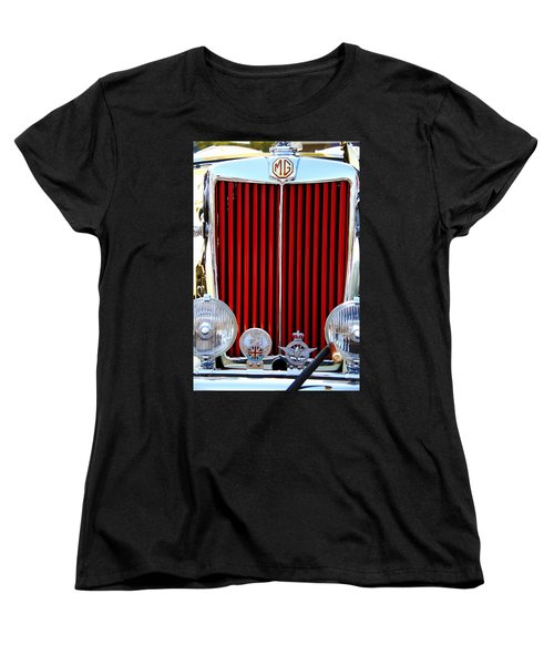 Vintage Car Women's T-Shirt (Standard Cut) featuring the photograph 1950 Mg by Aaron Berg