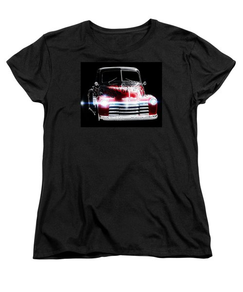 Vintage Women's T-Shirt (Standard Cut) featuring the photograph 1950's Chevrolet Truck by Aaron Berg