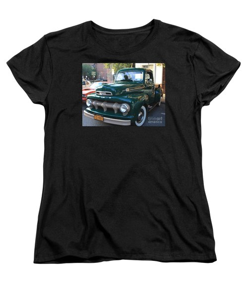 1952  Ford Pick Up Truck Front And Side View Women's T-Shirt (Standard Cut) by John Telfer