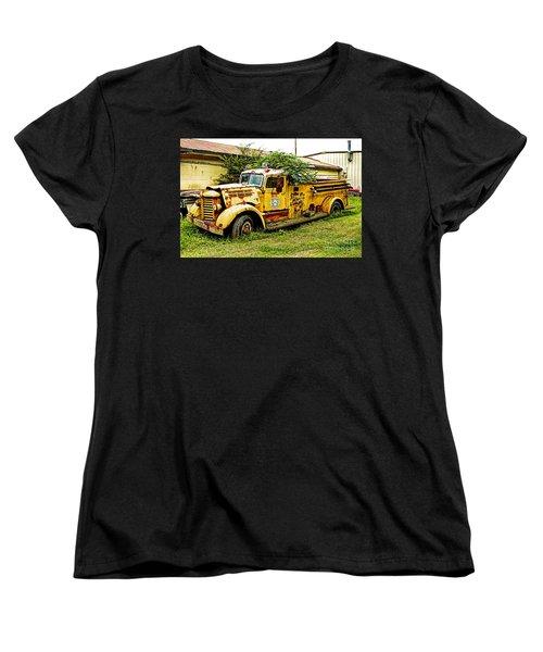 Women's T-Shirt (Standard Cut) featuring the photograph 1954 Federal Fire Engine by Paul Mashburn