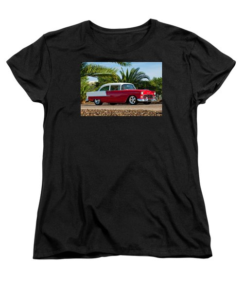1955 Chevrolet 210 Women's T-Shirt (Standard Cut) by Jill Reger