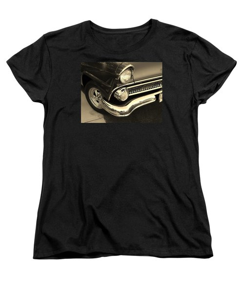 1955 Ford Crown Victoria Women's T-Shirt (Standard Cut) by Jean Goodwin Brooks