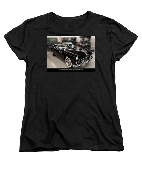 1955 Ford Thunderbird Convertible Women's T-Shirt (Standard Cut) by Chris Flees