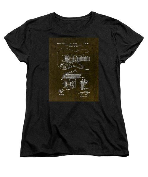 1956 Fender Tremolo Patent Drawing II Women's T-Shirt (Standard Cut)