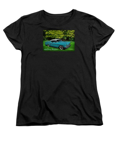 1958 Chev Impala Women's T-Shirt (Standard Cut) by Richard Farrington