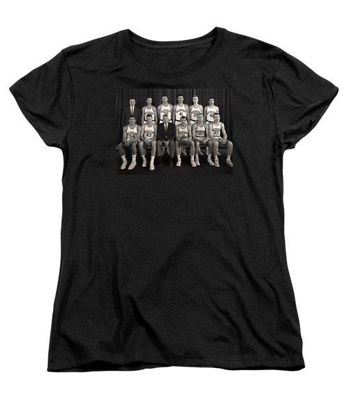 1960 University Of Michigan Basketball Team Photo Women's T-Shirt (Standard Cut) by Mountain Dreams