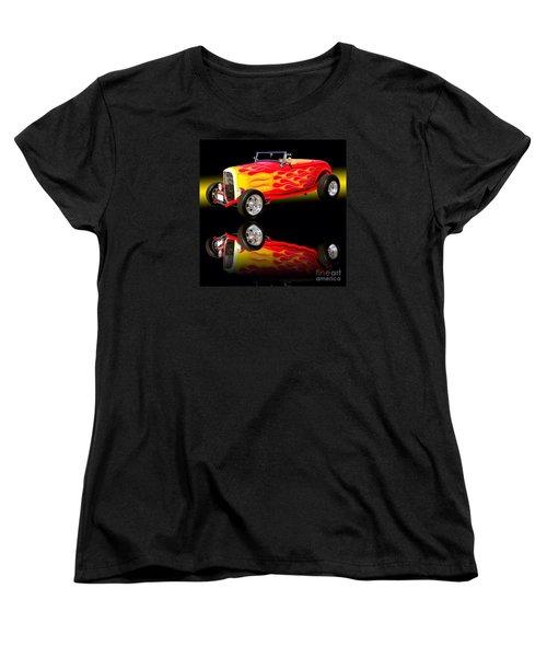 1932 Ford V8 Hotrod Women's T-Shirt (Standard Cut) by Jim Carrell