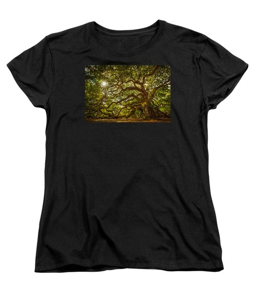 Angel Oak Women's T-Shirt (Standard Cut) by Serge Skiba