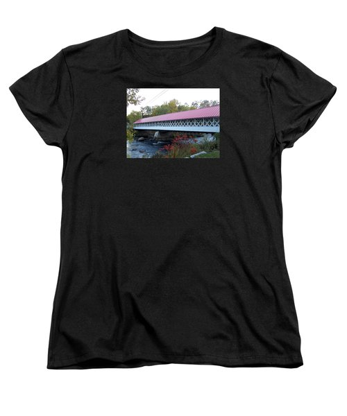 Ashuelot Covered Bridge Women's T-Shirt (Standard Cut) by Catherine Gagne