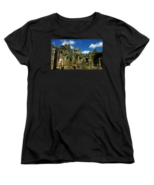 Bayon Temple Women's T-Shirt (Standard Cut) by Joey Agbayani