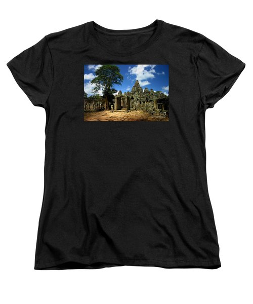 Bayon Temple View From The East Women's T-Shirt (Standard Cut) by Joey Agbayani