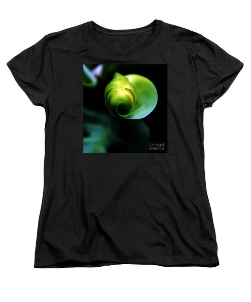 Women's T-Shirt (Standard Cut) featuring the photograph Birth Of A Leaf by Lilliana Mendez