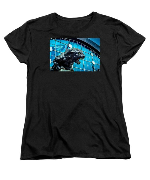 Black Panther Statue Women's T-Shirt (Standard Cut) by Alex Grichenko