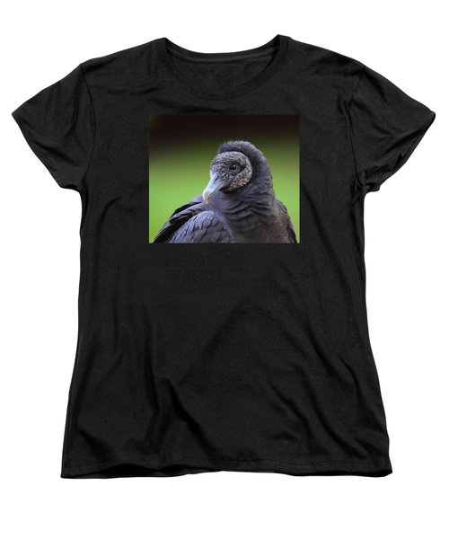 Black Vulture Portrait Women's T-Shirt (Standard Cut) by Bruce J Robinson