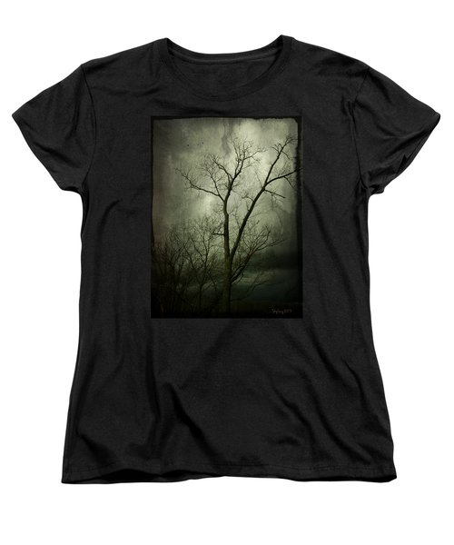 Women's T-Shirt (Standard Cut) featuring the photograph Bleak by Cynthia Lassiter