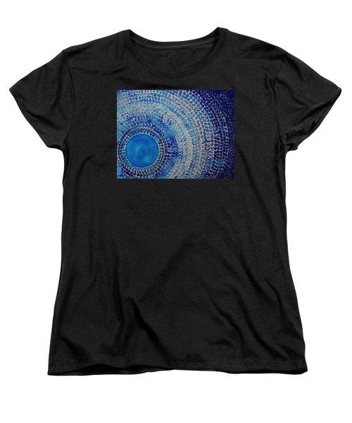 Blue Kachina Original Painting Women's T-Shirt (Standard Cut) by Sol Luckman