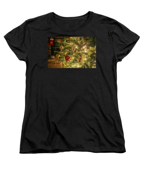 Women's T-Shirt (Standard Cut) featuring the photograph Christmas Tree Ornaments by Alex Grichenko