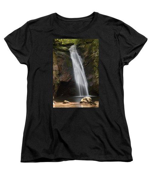 Courthouse Falls North Carolina Women's T-Shirt (Standard Cut) by Charles Beeler